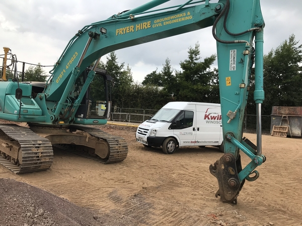 New Holland kobelco windscreen in Radstock