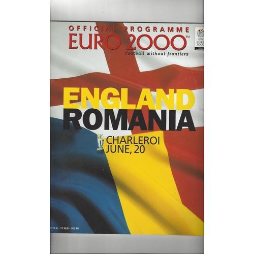 Euro 2000 England v Romania Football Programme