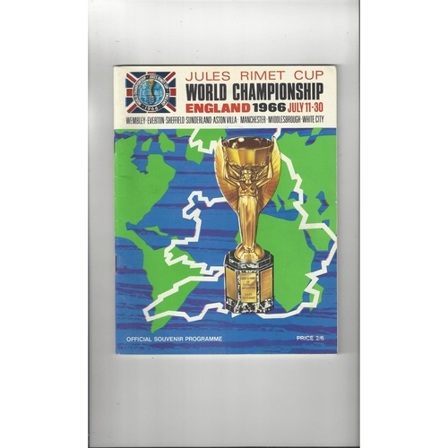 1966 World Cup Official Tournament Football Programme