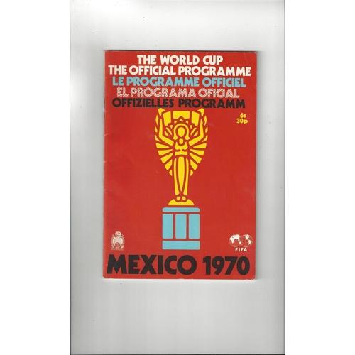 1970 WORLD CUP Official original Football Programme