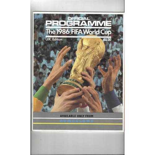 1986 World Cup official Football Programme UK Edition