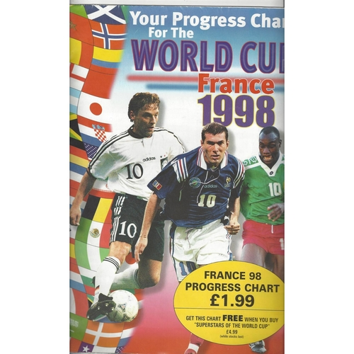 1998 World Cup Wall Chart & the Mail Magazine
