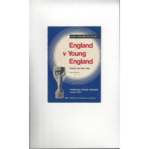 1965/66 England v Young England Football Programme @ Chelsea