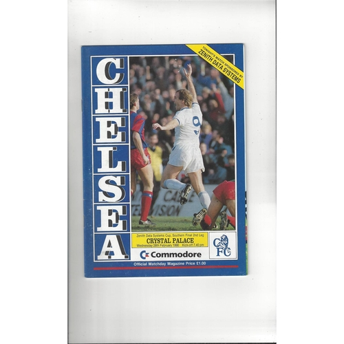 Chelsea v Crystal Palace Zenith Data Area Final Football Programme 1989/90