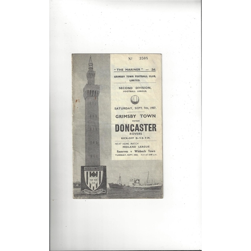 1957/58 Grimsby Town v Doncaster Rovers Football Programme