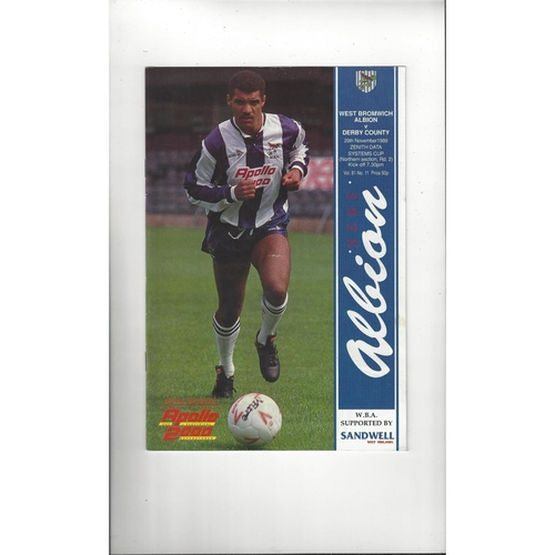 West Bromwich Albion v Derby County Zenith Data Football Programme 1989/90