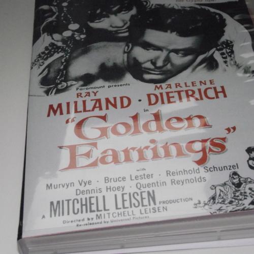 GOLDEN EARRINGS RAY MILLAND 1954 DVD
