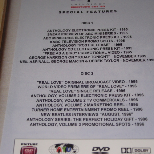 BEATLES ANTHOLOGY THE DIRECTOR'S CUT