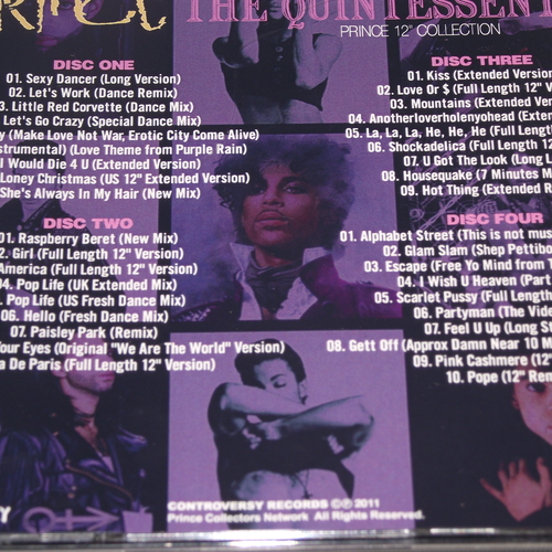 """PRINCE THE QUINTESSENTIAL 12"""" COLLECTION"""