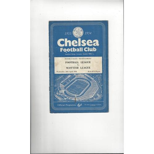Football League v Scottish League Football Programme 1954 @ Chelsea