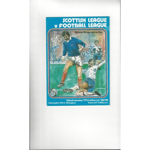 Scottish League v English League Football Programme 1976