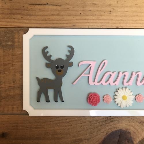 Deer door plaque