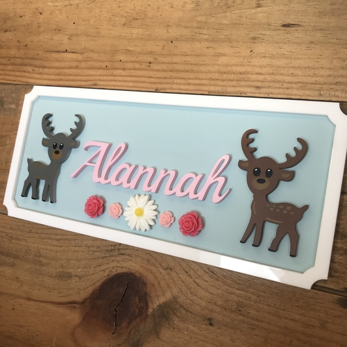 Deer door plaque