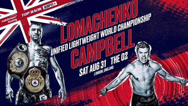August 31: Lomachenko-Campbell Set for London Showdown at The O2 LIVE and Exclusive on ESPN+