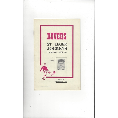Doncaster Rovers v St Leger Jockeys Friendly Football Programme 1954/55