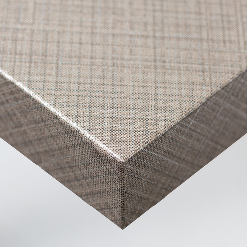 Cover Styl'® NE37 - Silver & Brown Lined Pattern