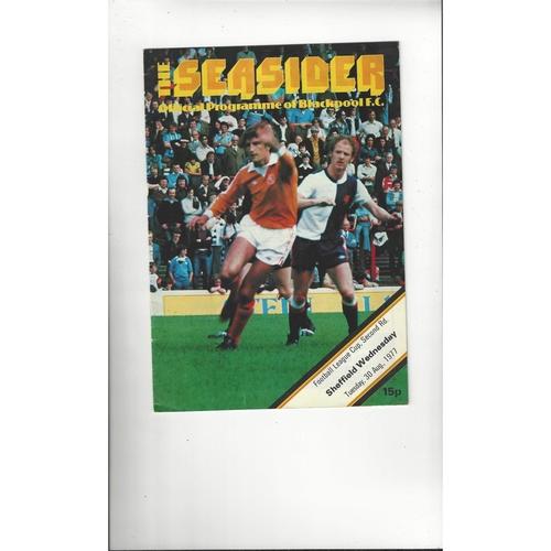 1977/78 Blackpool v Sheffield Wednesday Football Programme