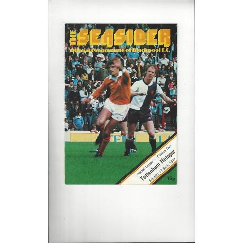 1977/78 Blackpool v Tottenham Hotspur Football Programme