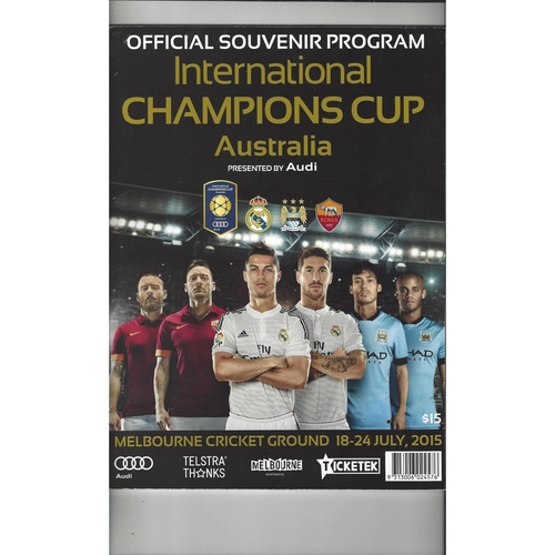 International Champions Cup 2015 Real Madrid, Manchester City, AS Roma + Team Sheets