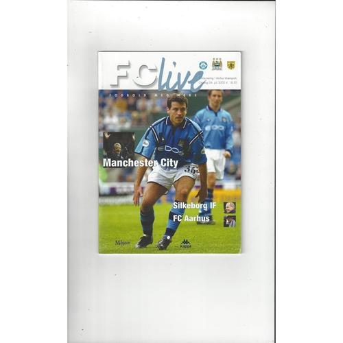 Manchester City v Silkeborg & Aarhus double Football Programme 2002/03