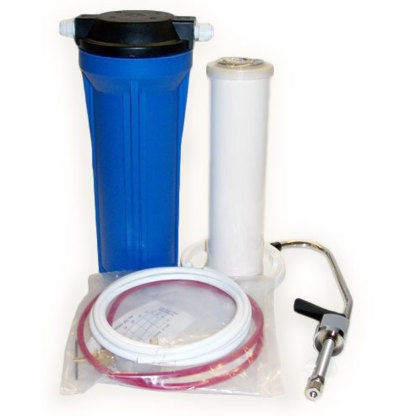 Undersink Water Filter With Dual Ceramic/Carbon Filter