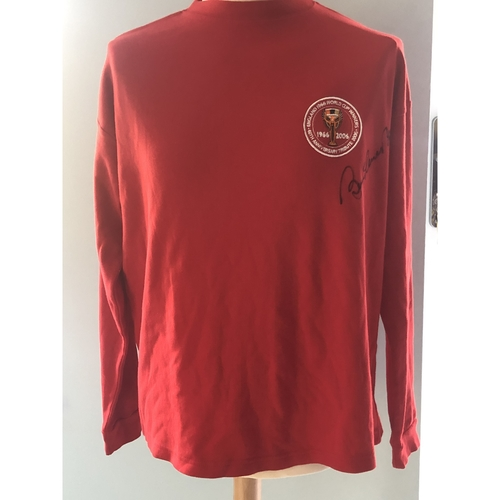 Bobby Charlton signed 40th Anniversary 1966 Shirt
