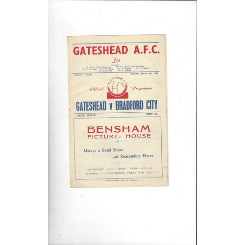 Gateshead Home Football Programmes
