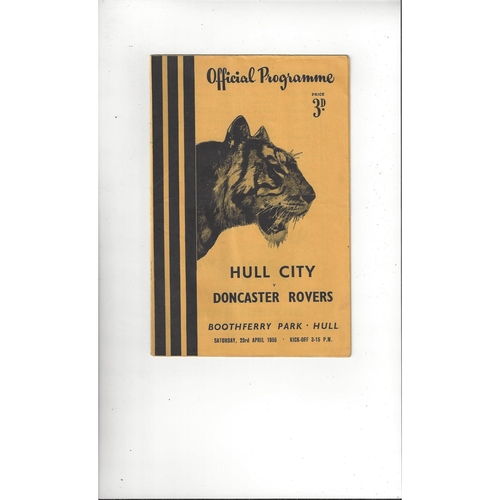 Hull City Home Football Programmes