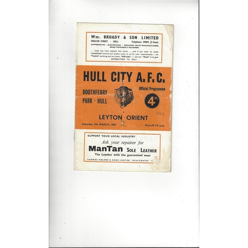 Hull City Home Football Programmes
