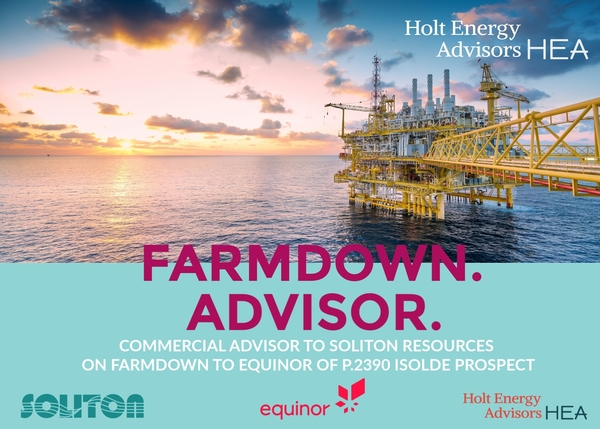 HEA Advises Soliton Resources on Isolde Farmout