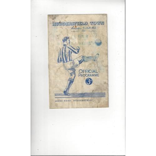 1950/51 Huddersfield Town v Manchester City Football Programme