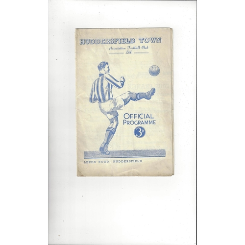 1952/53 Huddersfield Town v Doncaster Rovers Football Programme