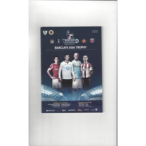 Asia Trophy Football Programme South China, Tottenham Hotspur, Manchester City, Sunderland Football Programme 2013/14