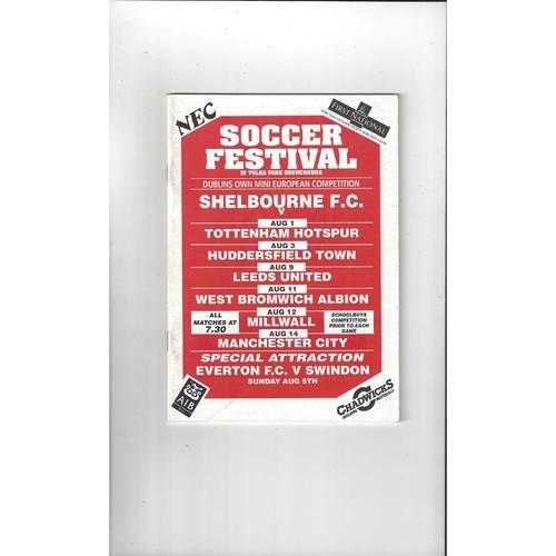 Soccer Festival Shelbourne, Tottenham Hotspur, Huddersfield Town, Leeds United, West Bromwich Albion, Millwall, Manchester City 1990/91