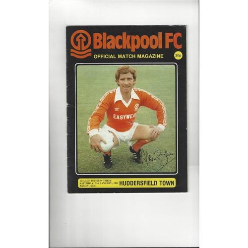 1980/81 Blackpool v Huddersfield Town Football Programme