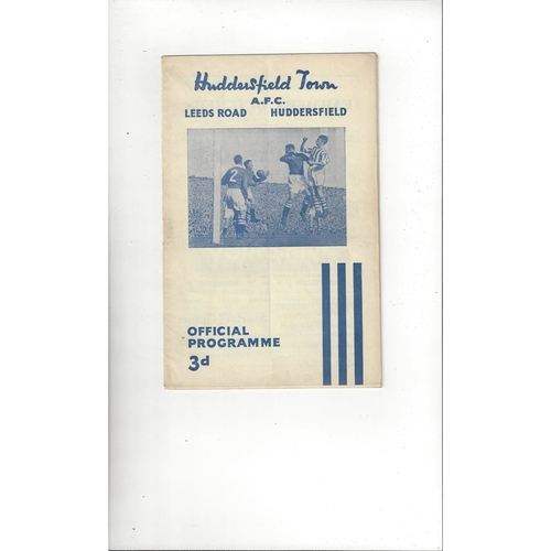 1954/55 Huddersfield Town v Manchester United Football Programme