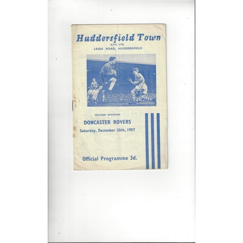 1957/58 Huddersfield Town v Doncaster Rovers Football Programme