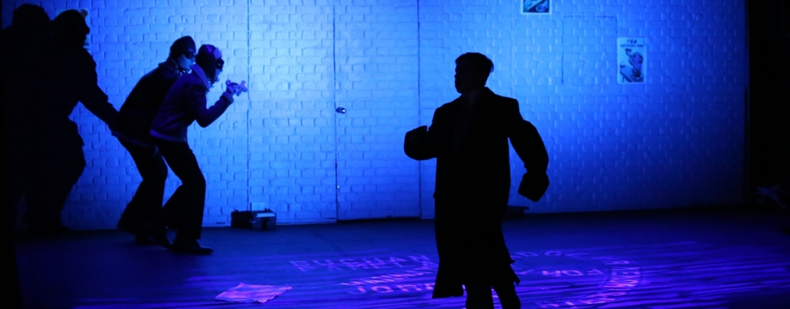 The 39 Steps sound and lighting design using robe 300e led moving heads