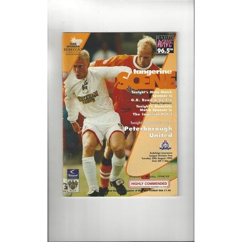 1995/96 Blackpool v Peterborough United Football Programme