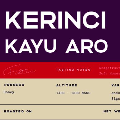 Kerinci Kayu Aro Honey