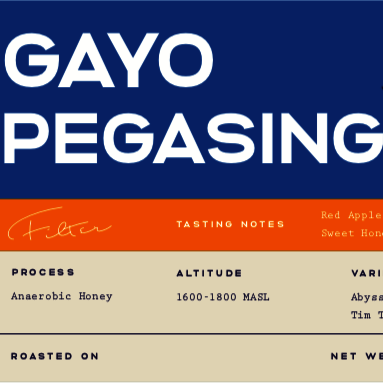 Gayo Pegasing Anaerobic Honey