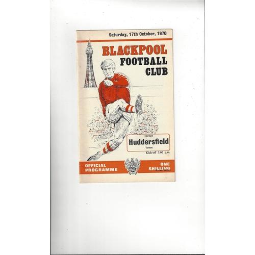1970/71 Blackpool v Huddersfield Town Football Programme