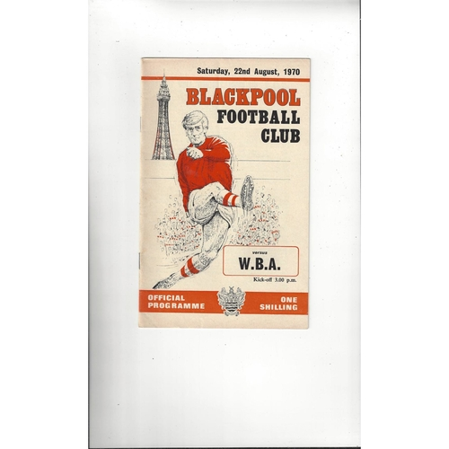 1970/71 Blackpool v West Bromwich Albion Football Programme