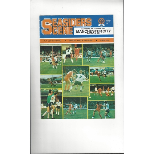 1983/84 Blackpool v Manchester City FA Cup Football Programme