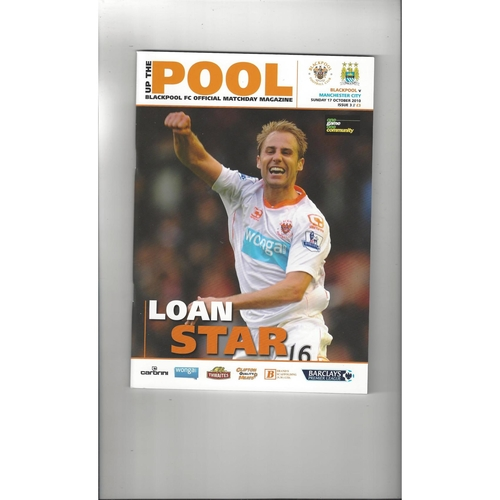 2010/11 Blackpool v Manchester City Football Programme