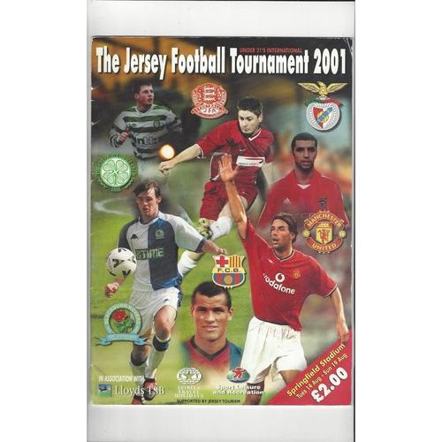 Jersey U21 Football Tournament Programme Manchester United Blackburn Celtic Benfica Barcelona & Jersey 2001