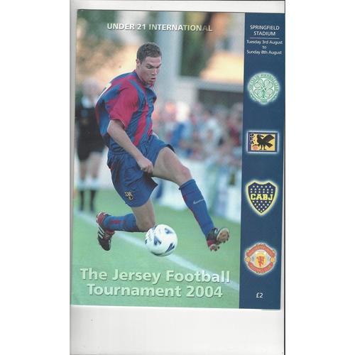 Jersey U21 Football Tournament Programme Manchester United Boca Celtic & Japan 2004