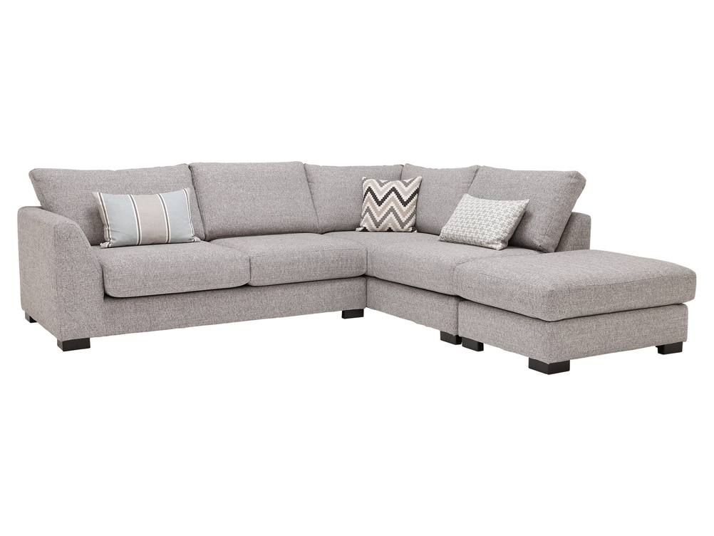 2 CORNER 2 VERSAILLE CORNER SOFA IN GREY LISABON