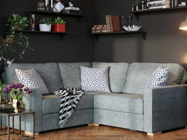 1 CORNER 1 MOLLY CORNER SOFA IN SIERRA CHARCOAL