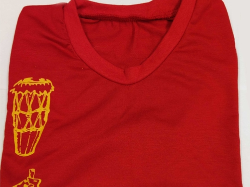 Atabaque & Pandeiro T-shirt  - Red (8y)